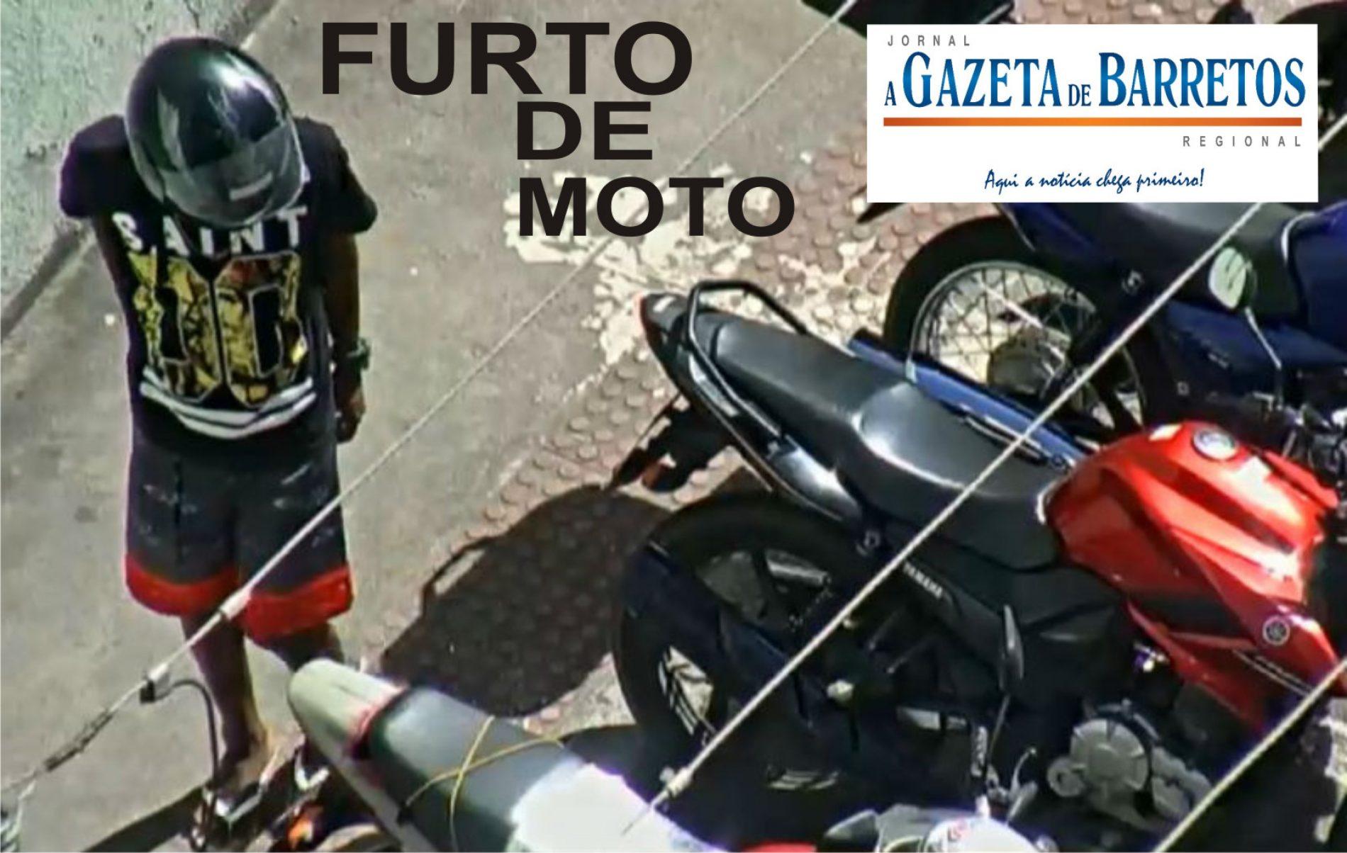Furto de motocicleta no centro da cidade