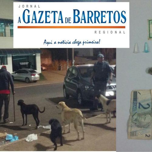 Traficando drogas em frente a da Defensoria Pública em Barretos