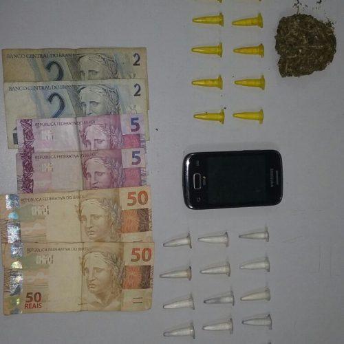 Operação Policial prende dois por tráfico de drogas no bairro Nadir Kenam