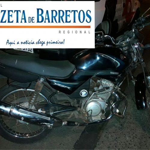 Policiais da Força Tática e Canil recupera moto roubada