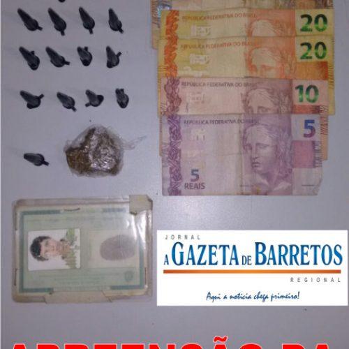 Força Tática prende HOMEM  por tráfico de drogas no bairro Alvorada