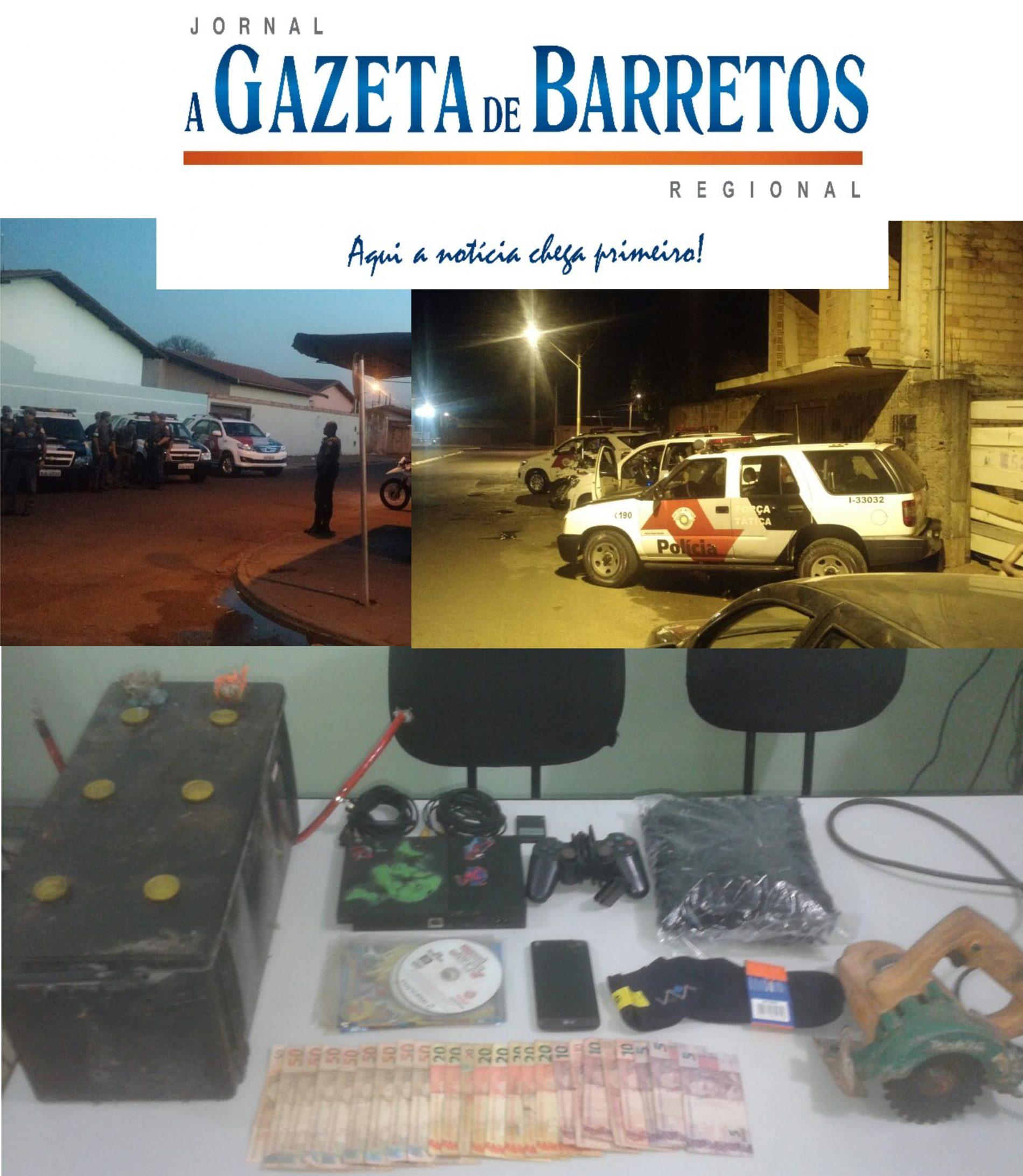 A casa caiu pra bandidagem na região norte de Barretos – Mega operação da Força Tática, Canil e Rocam