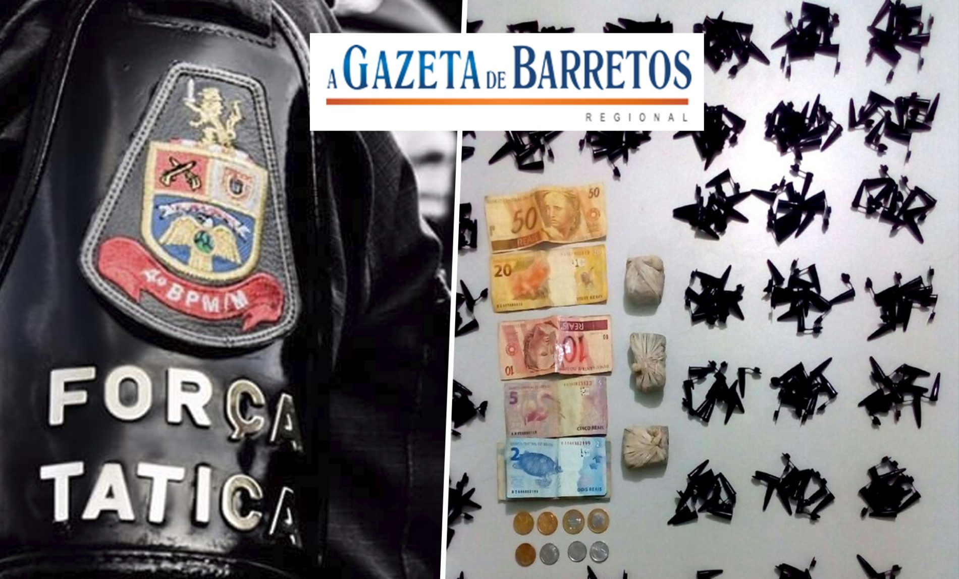 Força Tática prende garçom pelo crime de tráfico de drogas no bairro Dom Bosco