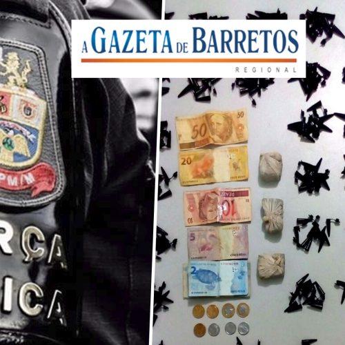 BARRETOS: Equipe Bravo prende servente que estava traficando drogas no bairro Marília