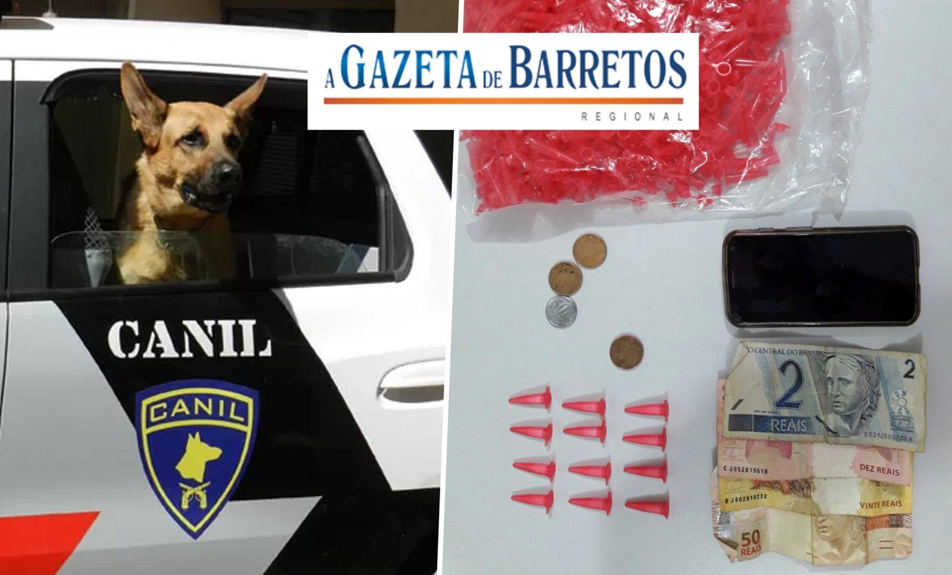 Balconista é preso pela equipe do Canil traficando drogas no Mutirão da Vila Gomes