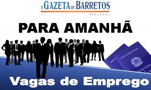 EMPREGO: VAGAS DISPONÍVEIS PARA AMANHÃ 19/02/2020