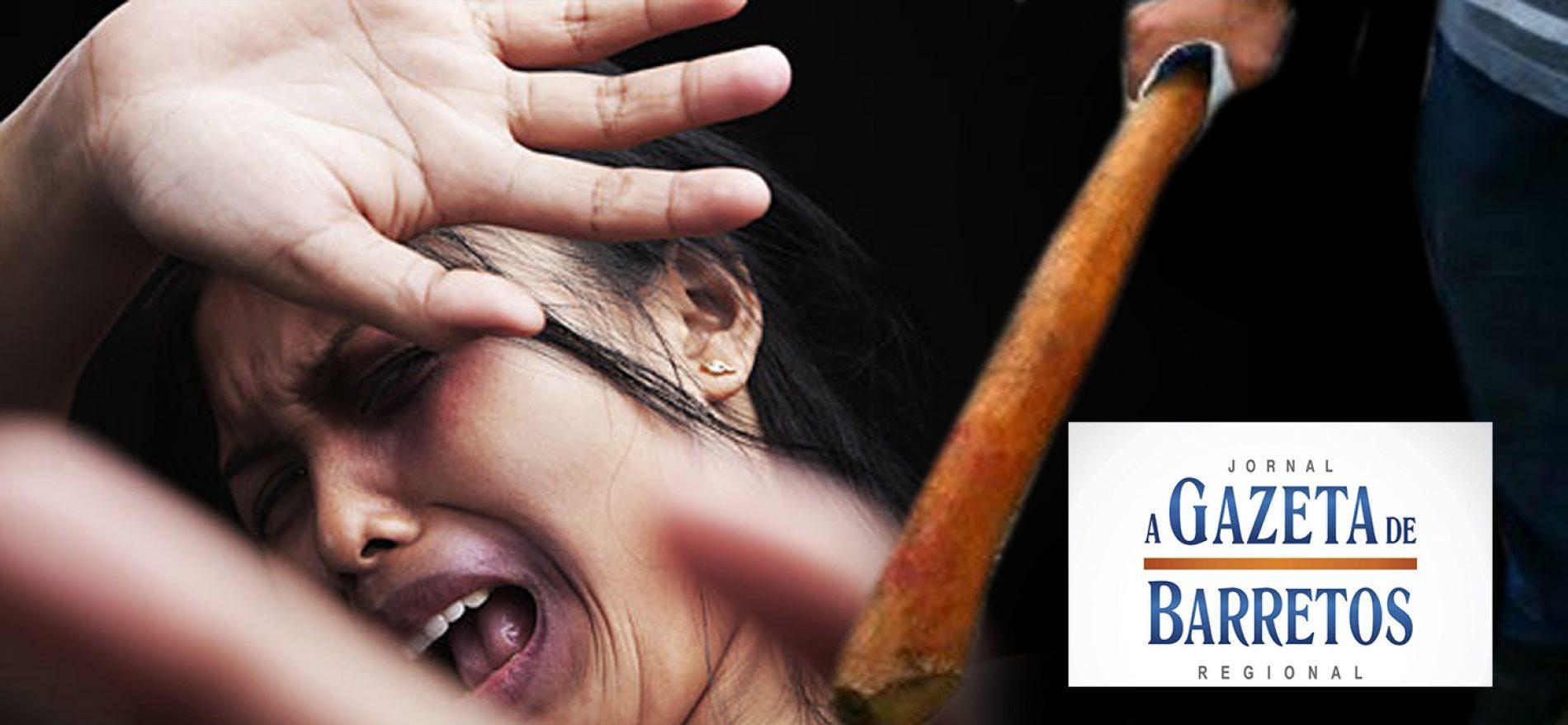 Mulher diz ter sido agredida com golpes de madeira