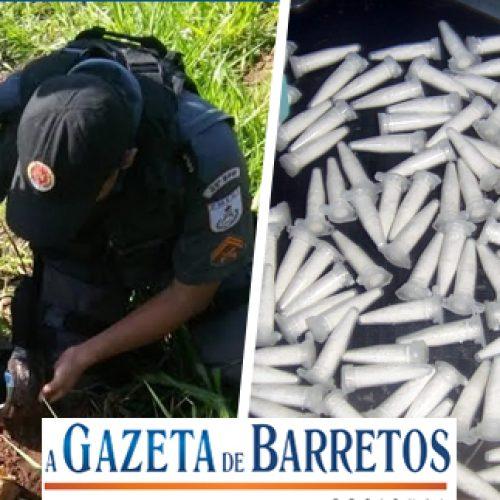 Militares localizam drogas e outros objetos em terreno no bairro Dom Bosco