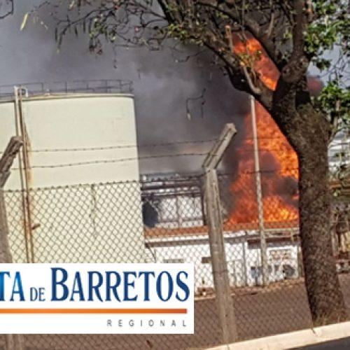 Incêndio acontecendo agora na Citrosuco de Bebedouro
