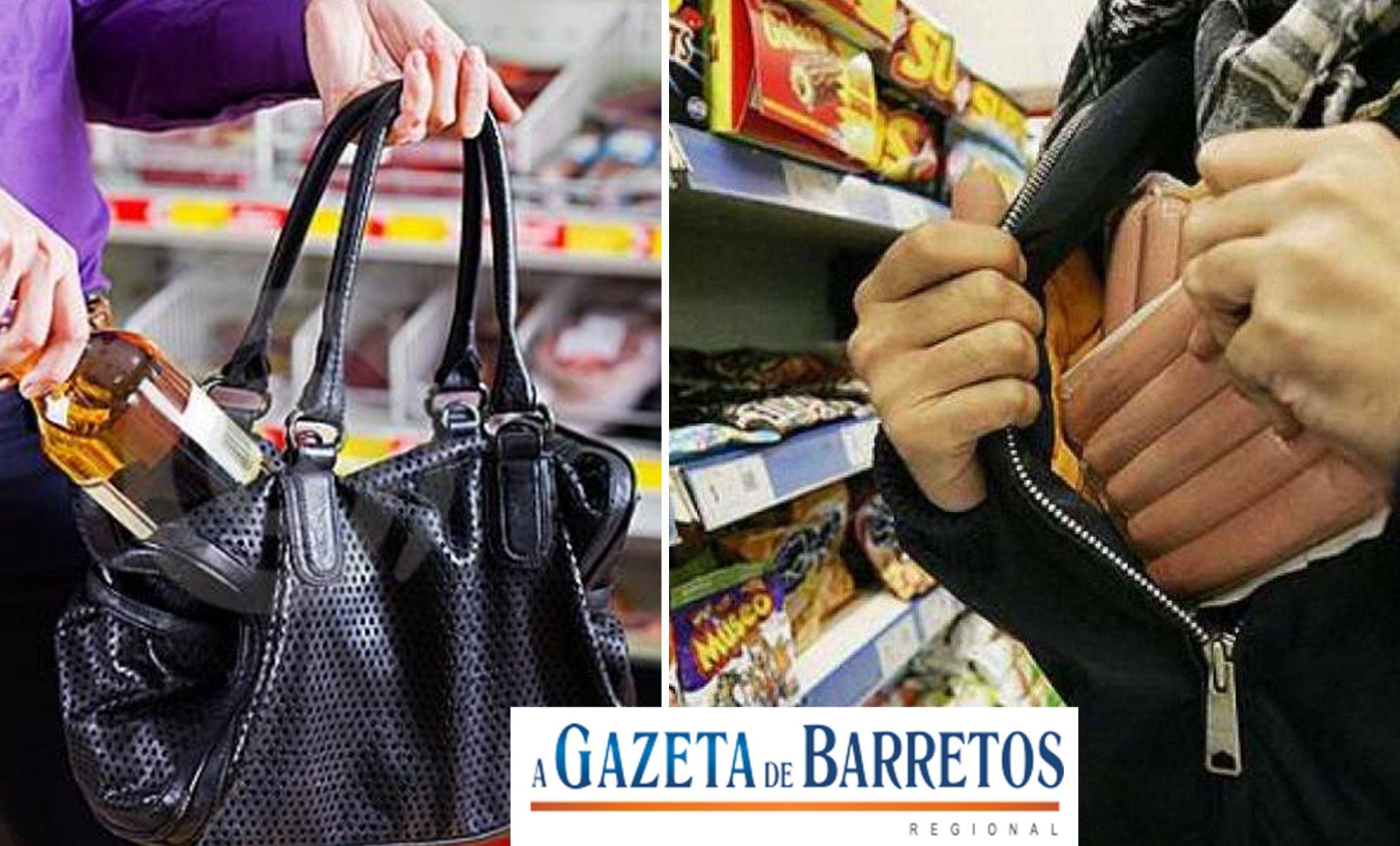 Casal é preso em flagrante furtando em supermercado