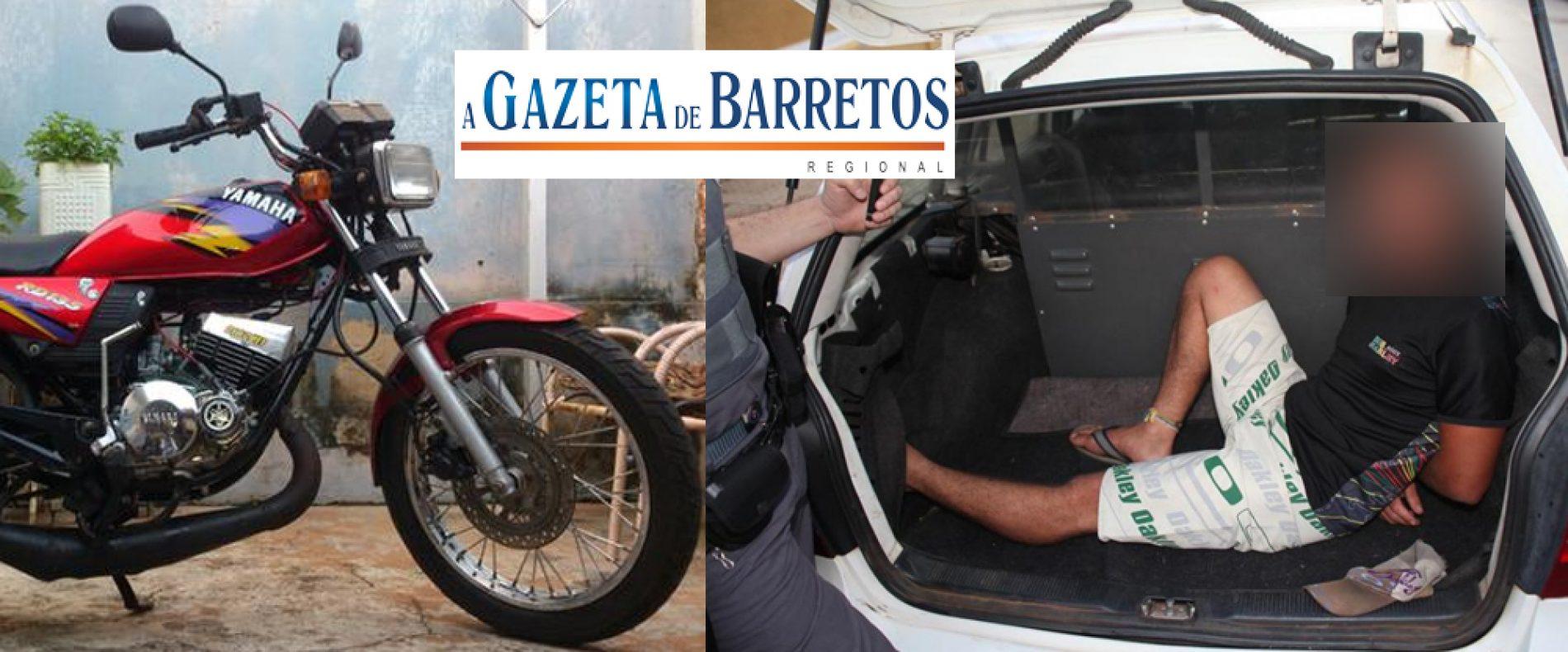 Jovem é detido com moto furtada