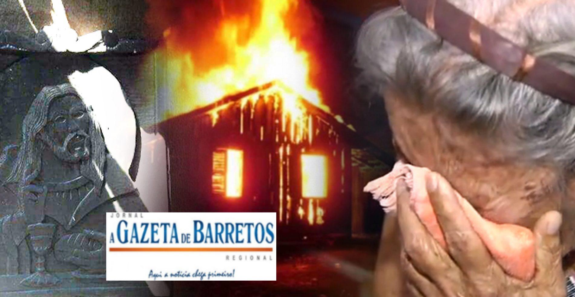 Residência de Idosa pega fogo no Bairro Cristiano de Carvalho