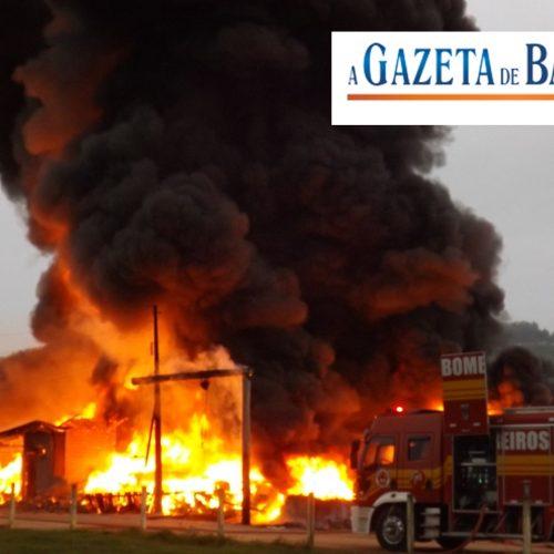 Incêndio na Citrosuco em Bebedouro. Mais informações