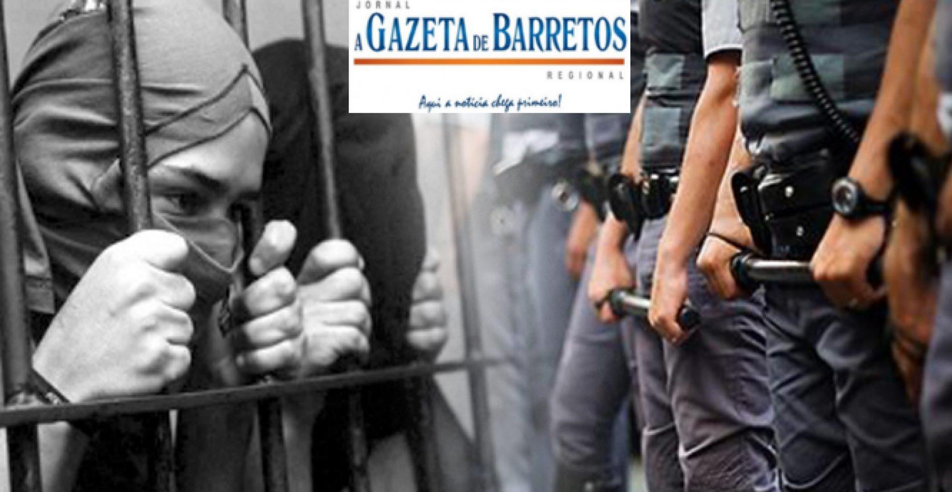 Adolescentes de 13 anos são detidos depois de agredirem Policial Militar com pedrada no rosto em porta de escola