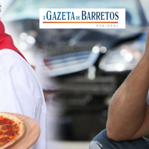 Pizzaiolo embriagado bate em carro de Taxista
