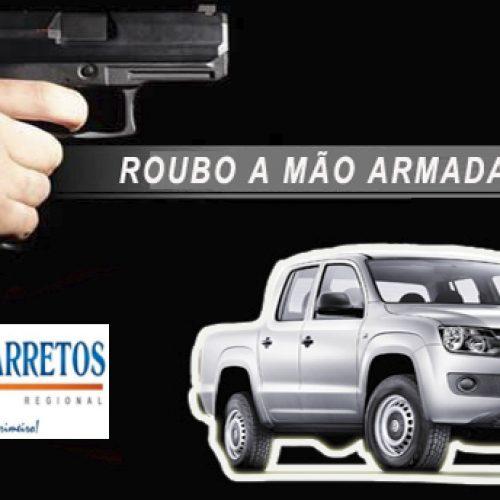 Bancário tem sua caminhonete roubada por bandidos armados na Vicinal Pedro Vicentini