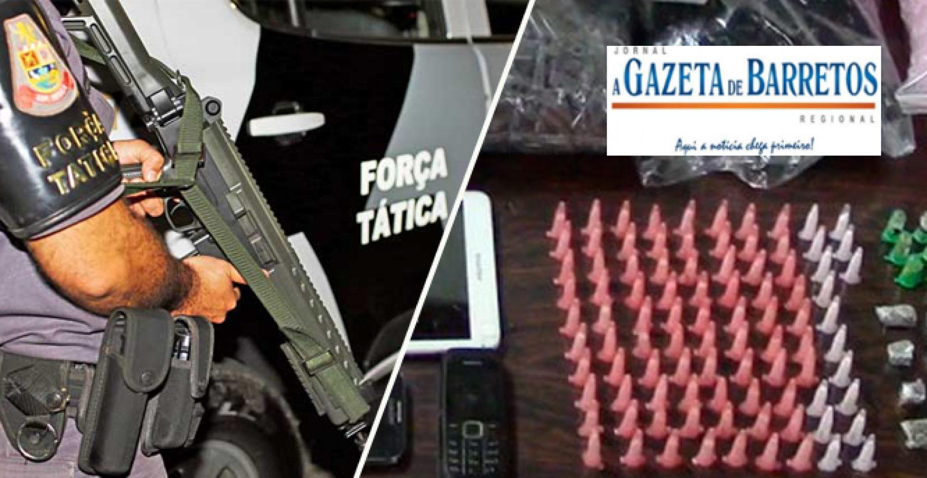 Força Tática: O terror da bandidagem. Dinheiro, pinos vazios, celulares entre outros objetos apreendidos no Bairro Don Bosco