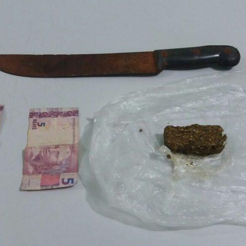 Equipe do Canil prende desempregado por tráfico de drogas no bairro Derby Clube