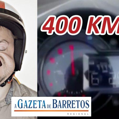 REGIÃO: SE LASCOU! Trafegou a 400 km/h e a polícia o identificou