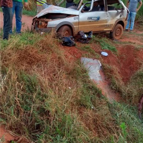 Homem morre em capotamento de veículo na cidade de Colina