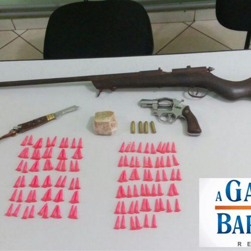 BARRETOS: Casal é preso com armas e drogas em residência no bairro Santa Isabel