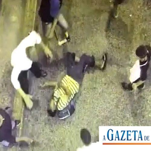 SÃO JOSÉ DO RIO PRETO: Cinco adolescentes espancam deficiente no Terminal. Câmera grava tudo.