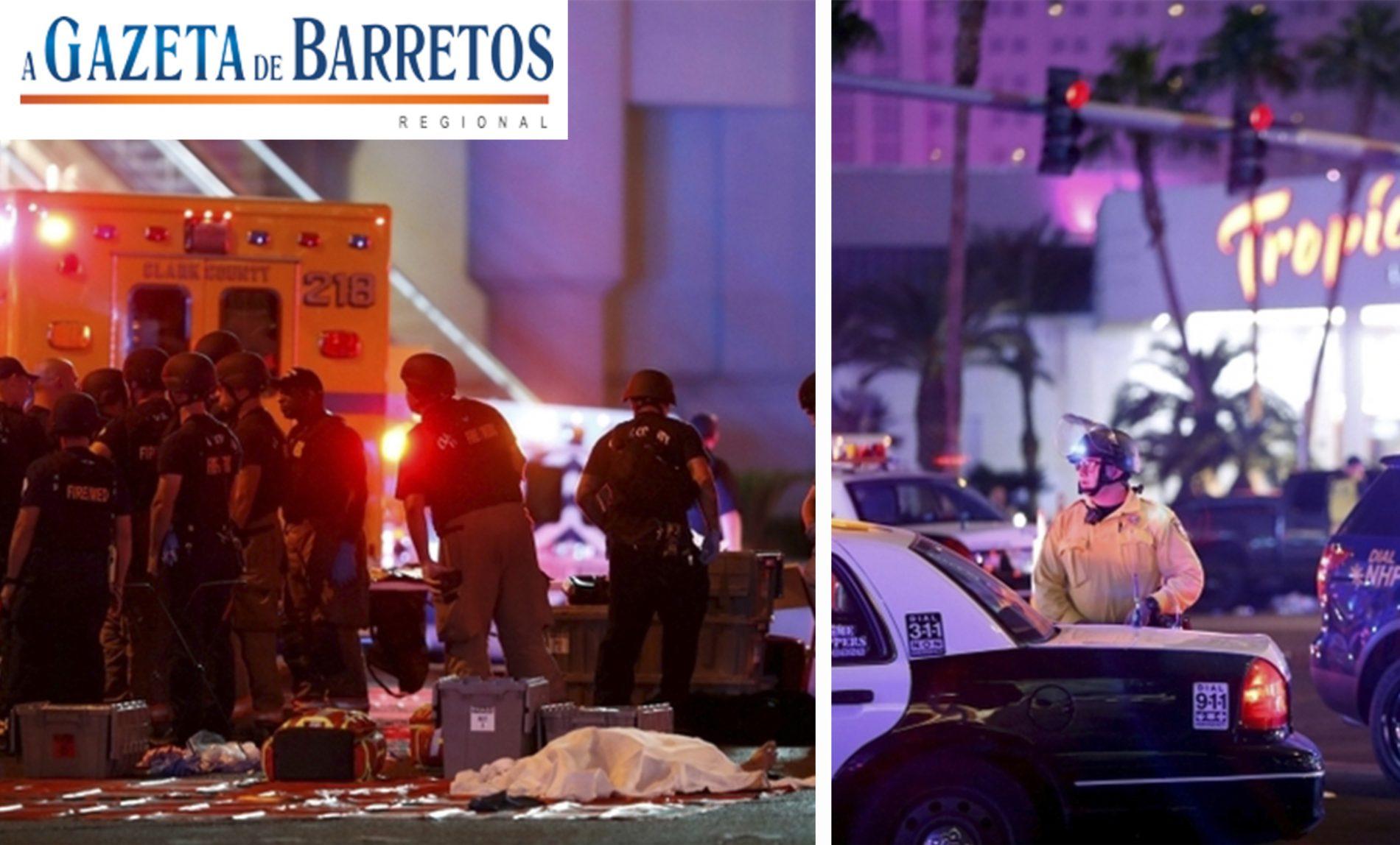 MASSACRE EM LAS VEGAS: Tiroteio em Las Vegas deixa 50 mortos. Veja os videos!