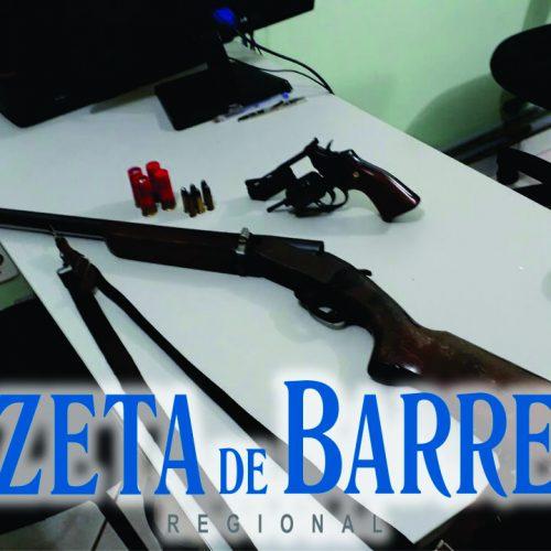 BARRETOS: Dois homens são presos por porte ilegal de arma de fogo
