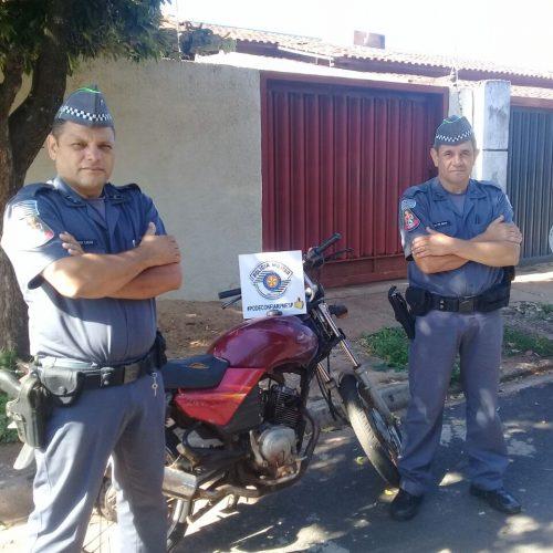 BARRETOS: Moto furtada é localizada por Policia Militar