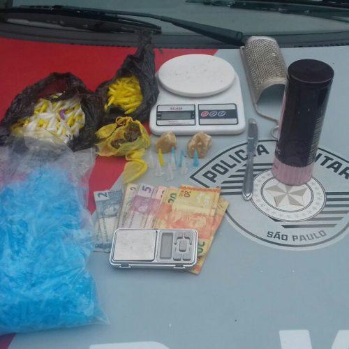 BARRETOS: Policiais Militares prendem uma pessoa com drogas no bairro Santana