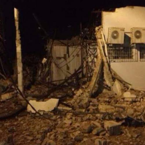 REGIÃO: Banco é destruído durante explosão de caixas eletrônicos