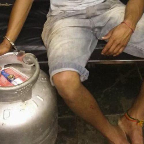 GUAÍRA: Polícia prende dois por furto e receptação de botijão de gás