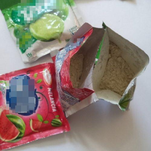 REGIÃO: Agentes encontram cocaína em pacote de suco em pó enviado pelo correio a detento