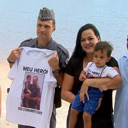 BARRETOS: PM reencontra criança que salvou de afogamento