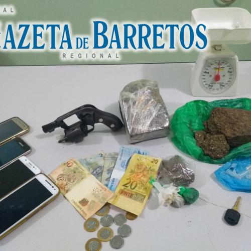 BARRETOS: Três pessoas são presas por tráfico de drogas em operação das equipes especializadas da Policia Militar