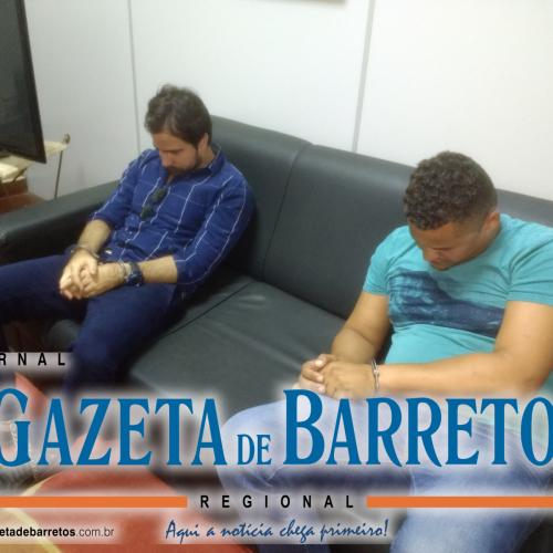 BARRETOS: Policiais civis prendem dupla de estelionatários que tentavam sacar mais de 157 mil em agencia bancaria