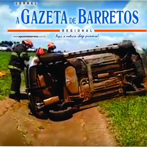 Barretense perde o controle do veículo e capota, na Rodovia (Próximo ao Extra Hiper), e acaba preso