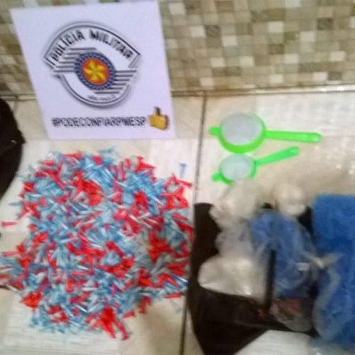 BARRETOS: Após denuncias anonimas PM apreende drogas no bairro Dom Bosco