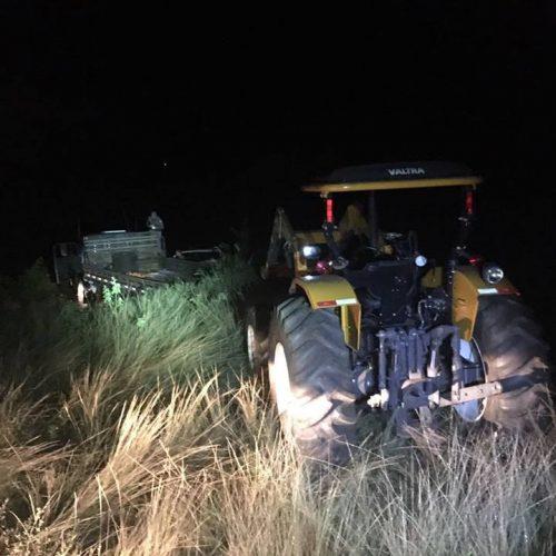 BARRETOS: Policiais Militares impedem furto de trator e apreendem caminhão que o transportaria