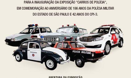 EXPOSIÇÃO NO RIBEIRÃO SHOPPING MOSTRA A EVOLUÇÃO DOS CARROS DE POLÍCIA