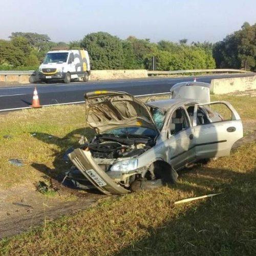 REGIÃO: Uma pessoa morre em capotamento de veículo na Rodovia Washington Luís essa manhã
