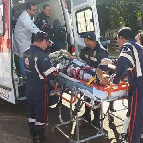 REGIÃO: Idosa é atropelada por ciclista
