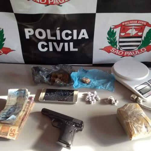 BEBEDOURO: POLÍCIA CIVIL PRENDE 2 ACUSADOS DE TRÁFICO DE DROGAS E POSSE ILEGAL DE ARMA DE FOGO