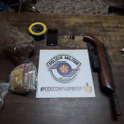 MIGUELÓPOLIS: Bandidos roubam depósito de gás, rendem família e polícia recupera objetos em rancho