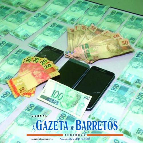 BARRETOS: Equipe Bravo prende casal, apreende menor e recupera quase 9 mil reais furtados em Bebedouro
