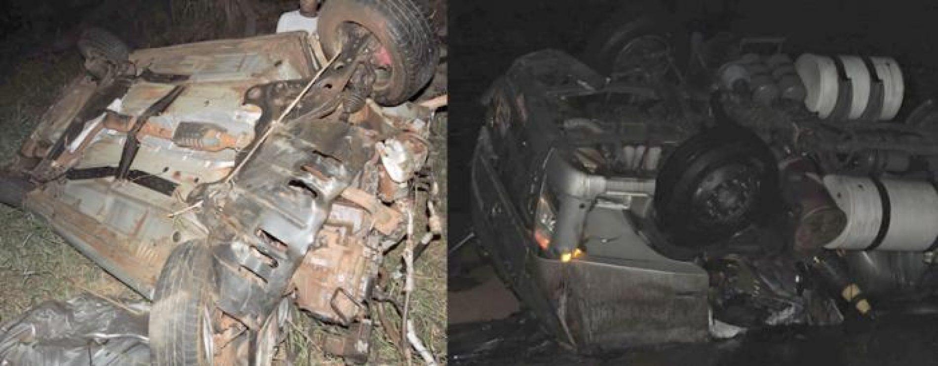 PLANURA: Duas pessoas ficam feridas em grave acidente na BR-364