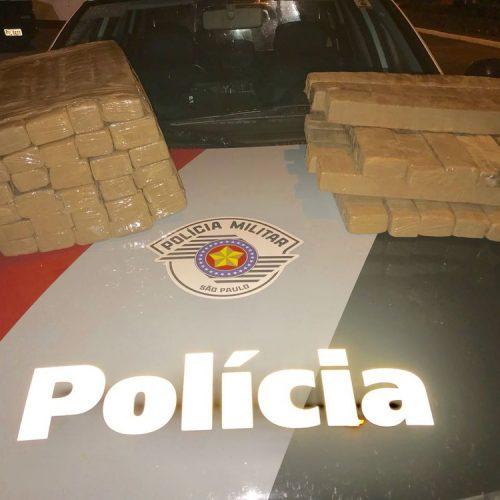 REGIÃO: Dupla é presa suspeita de tráfico de drogas com 50 kg de maconha