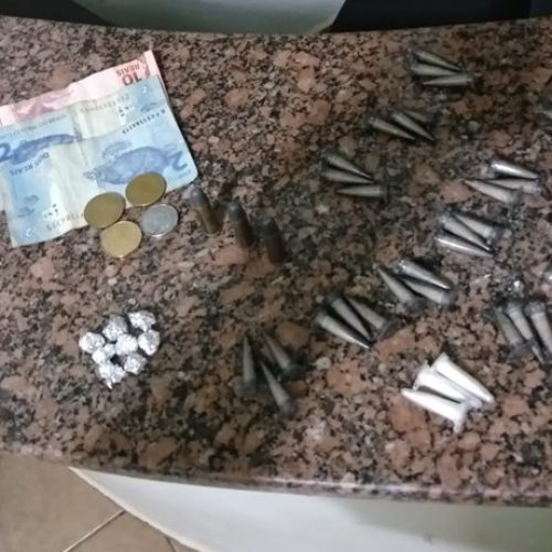 OLÍMPIA: Casal é flagrado com drogas e munições