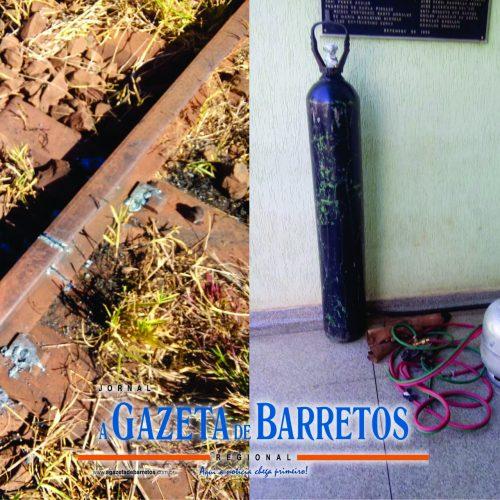 Barretenses são presos em Bebedouro furtando trilhos de trem avaliados em mais de cem mil reais