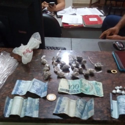 OLÍMPIA: Durante noite tensa na cidade jovem é flagrado traficando